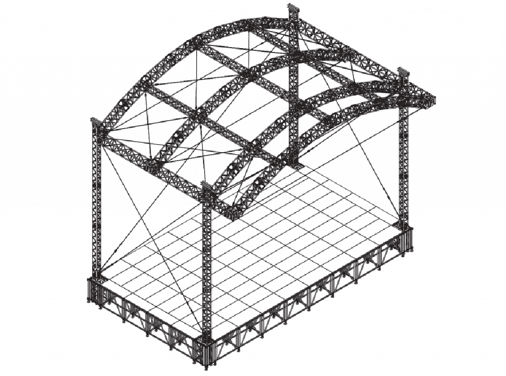 Arc stage roof