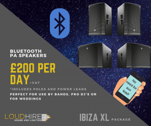 High quality PA system with Bluetooth